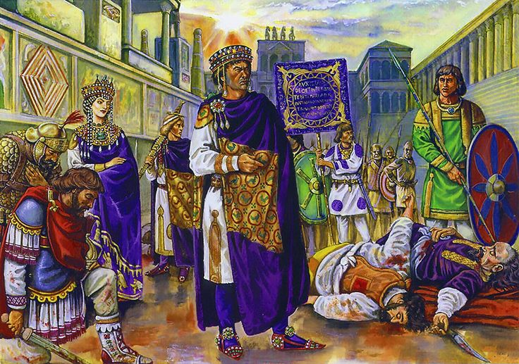The Emperor Justinian and the Empress Theodora after the Nika riot (18 January 532 AD)