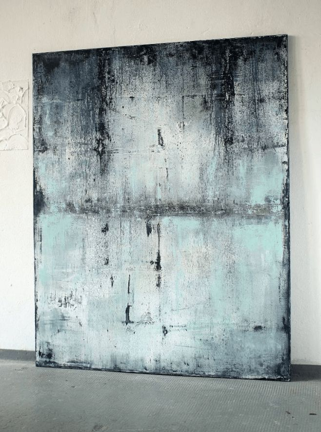 Blue With Past Framed Wall Painting By Christian Hetzel