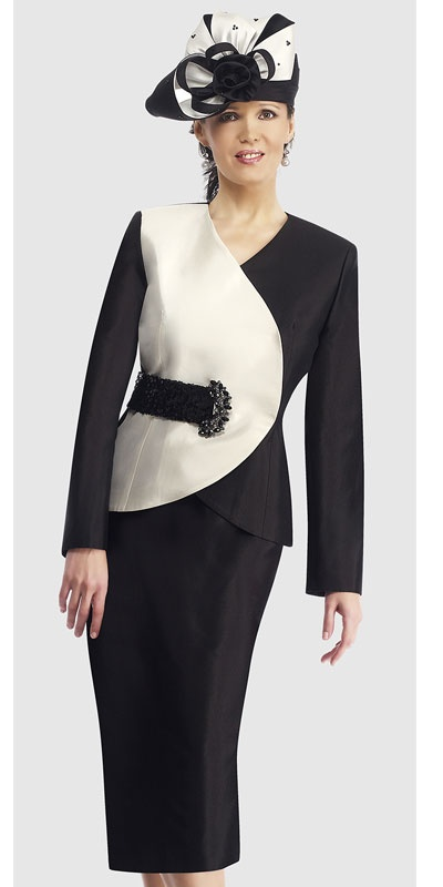 $298.90 Sizes: 8 10 12 14 16 18 20 22 24  Colors: Black With Ivory, Chocochip With Champagne ( 2pc Silk Suit )