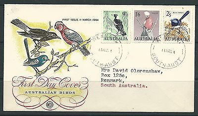 Australia 1964 Australian Birds 9d,1/6 & 2/5 on illustrated FDC, condn fine.