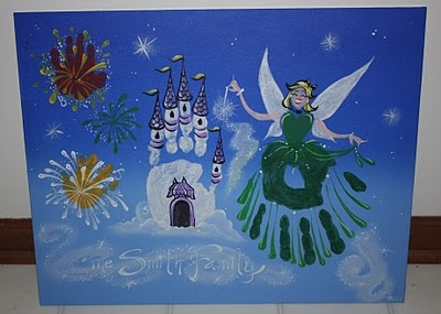 Handprint princess, footprint castle...awesome