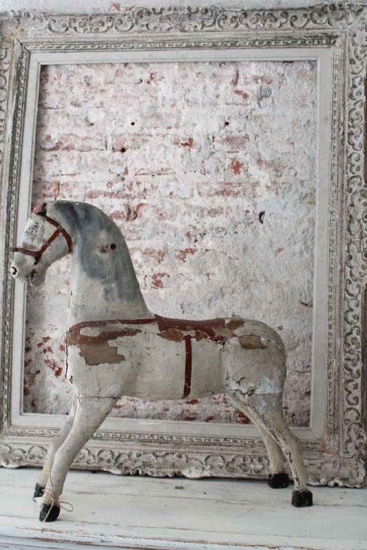 Antiek houten paard