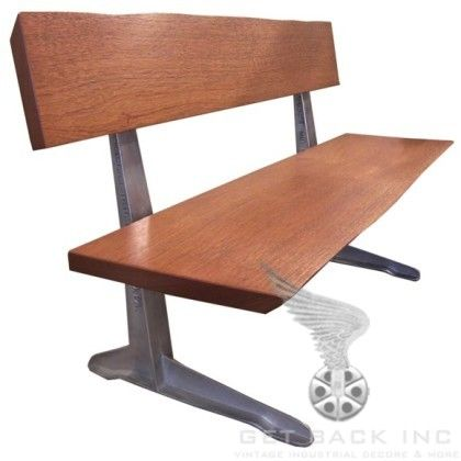 Get Back Inc   Mahogany Bench with Vintage Industrial Legs. 99 best Vintage Industrial Seating images on Pinterest   Stools