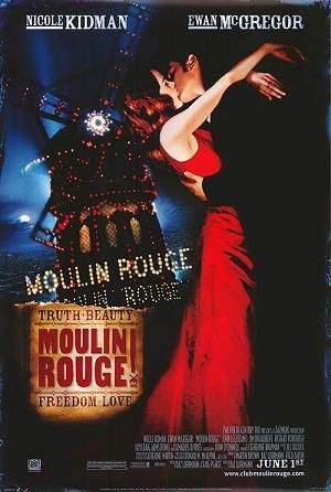 Moulin Rouge! (/ˌmuːlæn ˈruːʒ/, from French: [mulɛ̃ ˈʁuʒ]) is a 2001 romantic Jukebox musical film directed, produced, and co-written by Baz Luhrmann. It tells the story of a young, English poet/writer, Christian, who falls in love with the terminally-ill star of the Moulin Rouge, cabaret actress and courtesan Satine. It uses the musical setting of the Montmartre Quarter of Paris, France.