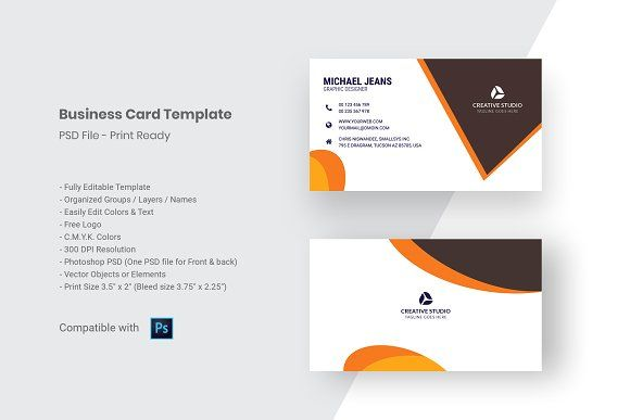 Modern Business Card Template Business Cards Creative Templates Business Card Template Psd Modern Business Cards