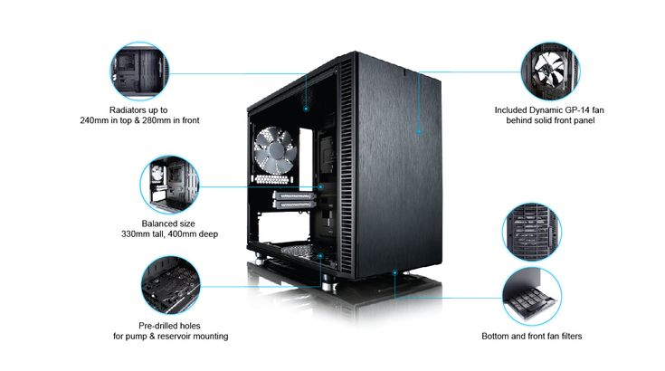 Fractal Define Nano S - Water cooling ITX Case - TECKKNOW