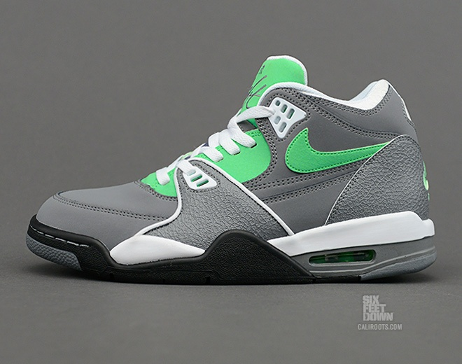 Nike Air Flight 89 Cool Grey Poison Green