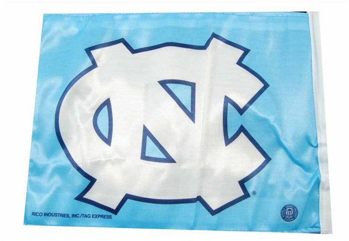 Rico Industries North Carolina Tar Heels Car Flag