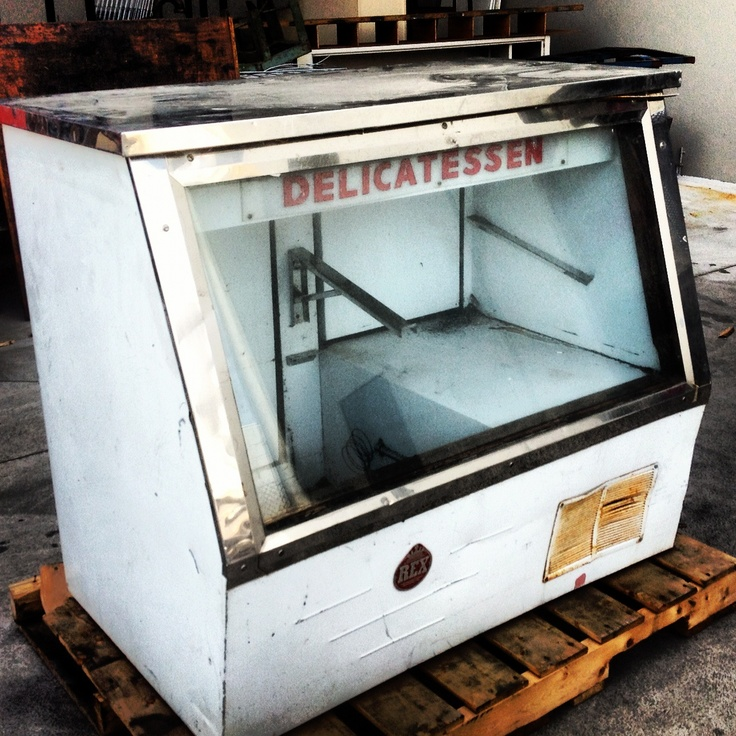 Vintage deli fridge
