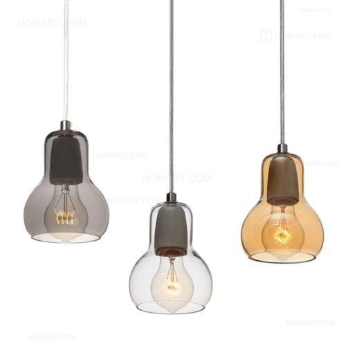 3-Design-Modern-Pendant-Lights-w-Glass-Lamp-Shade-Dining-Living-Lighting