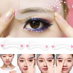 Achieve perfectly shaped brows to accentuate your face.These reusable stencils are easy to use.