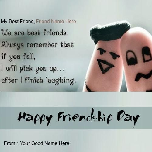 wishes on happy friendship day to all my best friends forever with name editing. happy friendship day greeting cards wishes picsture online. write friends name on happy friendship day images