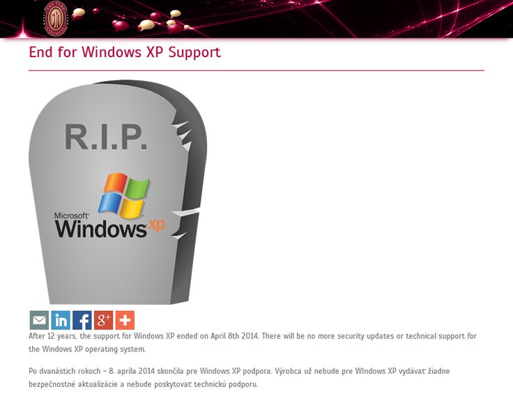 End for Windows XP Support