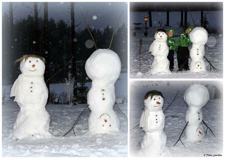 Lumiukkomme Kreetta ja Sepelius.