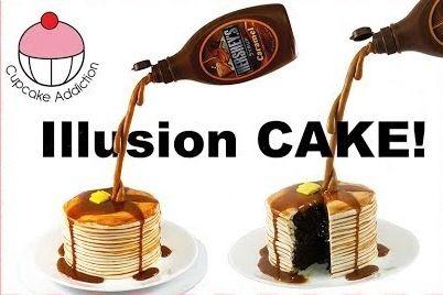 My Cupcake Addiction Pancake Illusion Cake