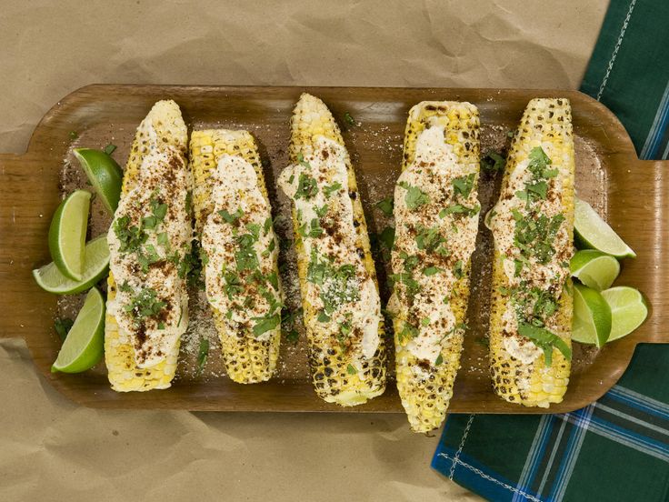 Grilled Picnic Corn from CookingChannelTV.com: Side Dishes Recipe, Mexicans Sauces, Summer Recipe, Limes Juice, Picnics Corn, Cookingchanneltv Com, Corn Recipe, Grilled Picnics, Grilled Corn