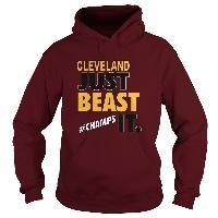 Cleveland Baseball Basketball Just Beast It Gold Champs Sports Fan Hoodie