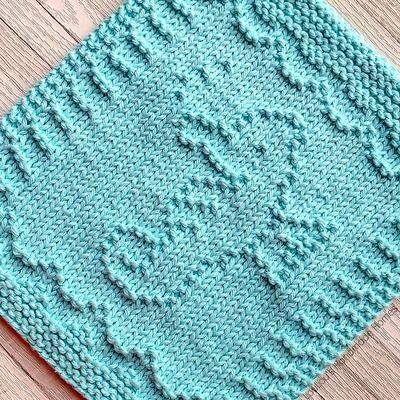 Knitted Sally Seahorse Facecloth – any colour