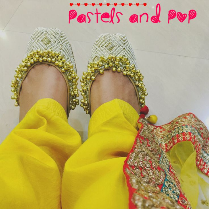 Handcrafted Punjabi Jutti's by Pastels and Pop!