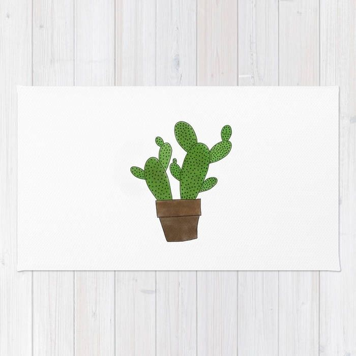 Cactus Floor Rug - Floor Mat - Room Rug - Southwestern Throw Rug - Bathroom Decor - Made to Order by ShelleysCrochetOle on Etsy