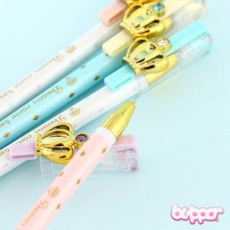 Pastel Pearl Crown Ball Pen | Blippo Kawaii Shop