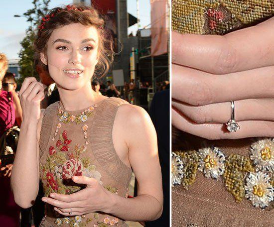 Pin for Later: Die schönsten Eheringe der Stars Keira Knightley Keira Knightley verlobte sich im Mai 2012.