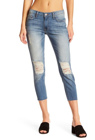 PROMOTIE-Imbracaminte Femei Just USA Distressed Relax Fit Cropped Skinny Jeans MED