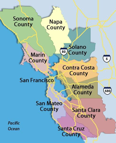 Best Bay Area Transit Maps Images On Pinterest Bay Area - Bay area county map