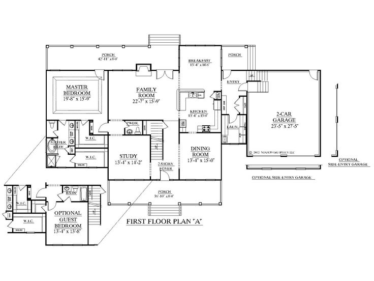 House plan 3397 a albany first floor plan 3397 square for 2 car deep garage