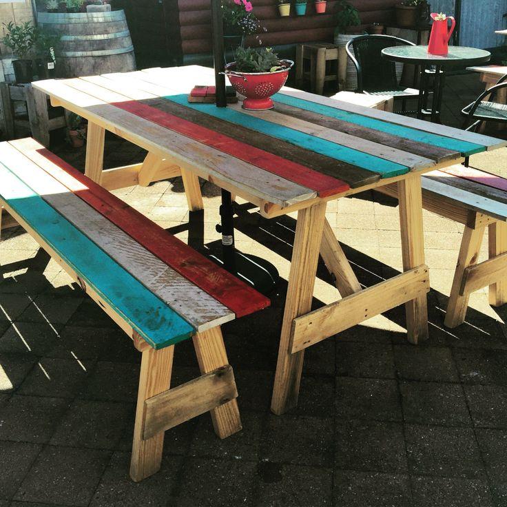 17 Best Ideas About Pallet Picnic Tables On Pinterest