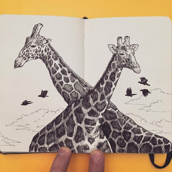 Not Defterine Yapılmış Birbirinden Leziz Kara Kalem Resimleri: Francisco Del Carpio Sanatlı Bi Blog 16