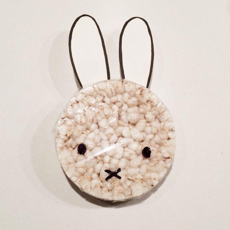 Gezonde Nijntje traktatie rijstwafel kinderdagverblijf | Miffy treat daycare