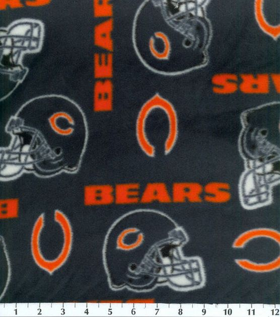 Chicago Bears NFL Fleece Fabricby Fabric Traditions