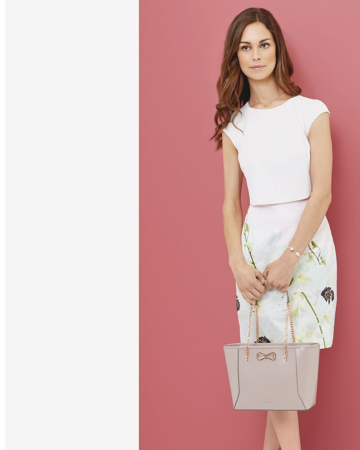 Pearly Petal layered dress - Pink | Dresses | Ted Baker