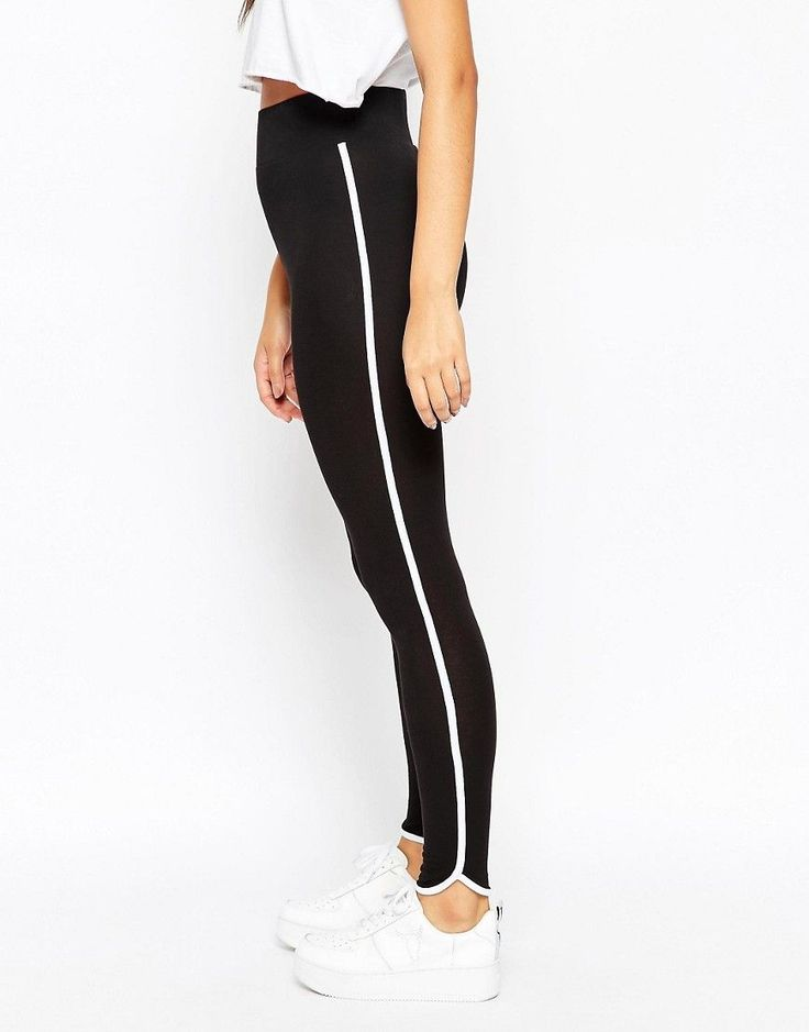 Image 1 of ASOS Leggings with Contrast Binding