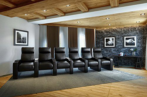 Ace-ZR400-Cinema-Movie-Chair-Octane-Seating-Black-Bonded-Leather-Accessory-Dock-Straight-Row-of-6-Seats