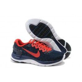 Nike LunarGlide+ 4 Shield Herresko Mørkblå Rød