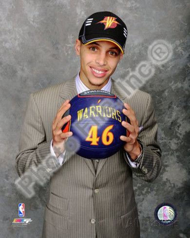 Is it me or do Steph's enormous eyes make him look like an anime character? Stephen Curry 2009 NBA Draft #7 Pick Photo at AllPosters.com
