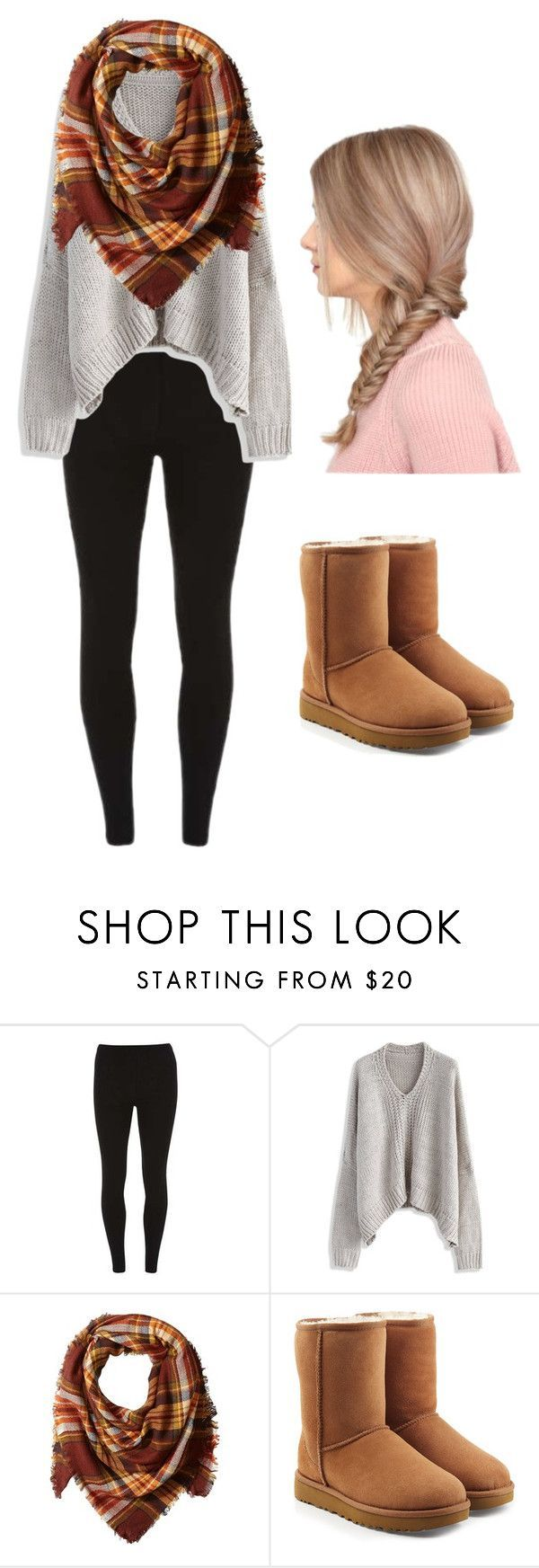 Winter Outfit by verrethannah on Polyvore featuring Dorothy Perkins, Chicwish, La Fiorentina and UGG