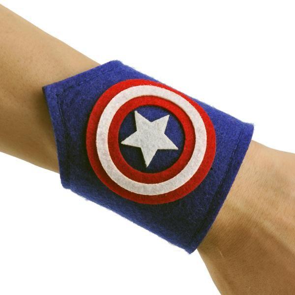 Captain America Wristband. Buy now at www.littlesuperherocitizens.com