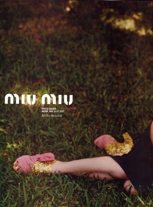 Love this Miu Miu ad #AdCampaign #Fashion