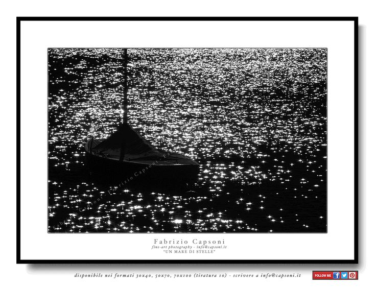 """Un mare di stelle"" ©2008 FABRIZIO CAPSONI - Fine Art Giclée Print on cotton paper - Limited edition - #fotografia #fineart #art #Interiors #homedecor"