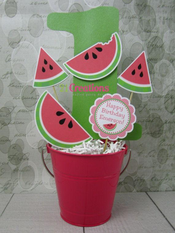 Watermelon Age Centerpiece by 21Creations on Etsy