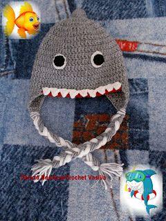 ΠΛΕΚΤΑ ΒΑΣΙΛΕΙΑ - CROCHET VASILIA :  Θυμαστε που σας είχα μιλήσει για τον καρχαρία Ποσ...