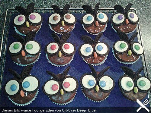 Eulen Cupcakes