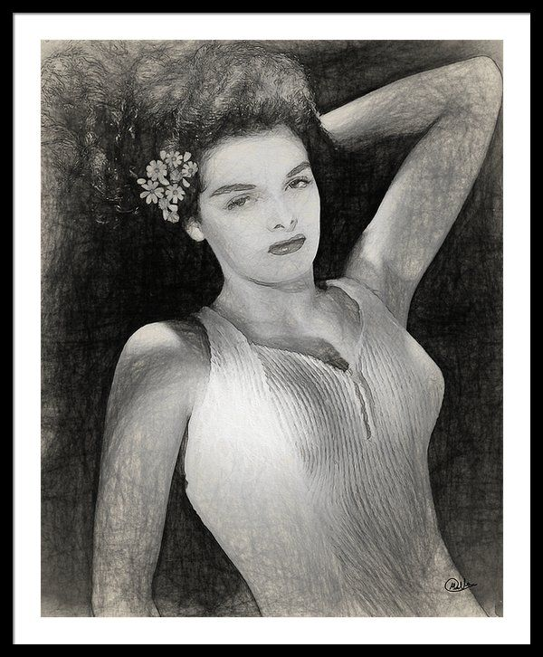 #Jane #Russell Framed Print By Quim Abella
