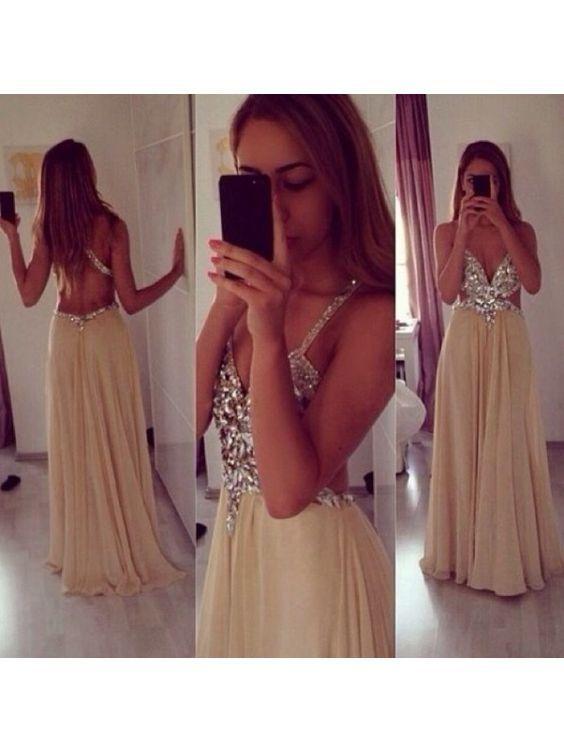 Bg664 Charming Prom Dress,Backless Prom Dress,Chiffon Prom Dresses