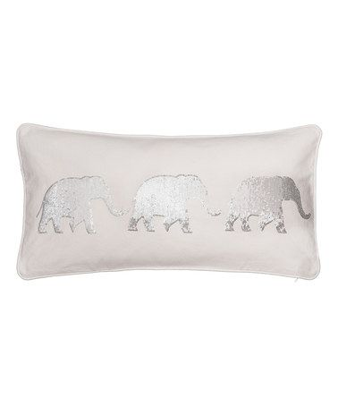 Another great find on #zulily! Sparkle Elephant Throw Pillow #zulilyfinds