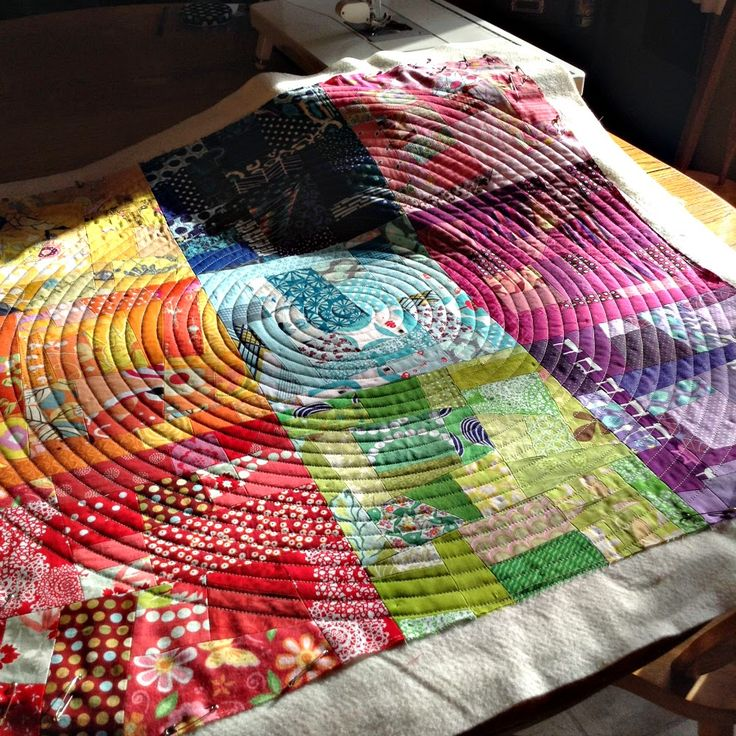 Quilting a spiral ~ what worked for me