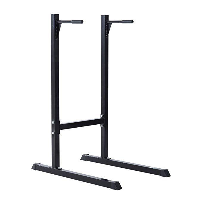 Homcom dip station stand parallel pull push up bar brust bizeps